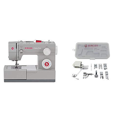 SINGER | Heavy Duty 4423 Machine with Accessory Kit, Including 9 Presser Feet, Twin Needle, and Case