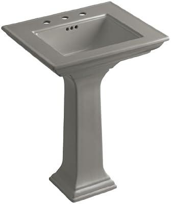 KOHLER K-2344-8-K4 Memoirs Pedestal Bathroom Sink with Stately Design and 8