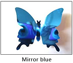 ADRIA 12pcs/Set Mirror Sliver 3D Butterfly Wall Stickers Party Wedding Decor DIY Home Decorations Blue