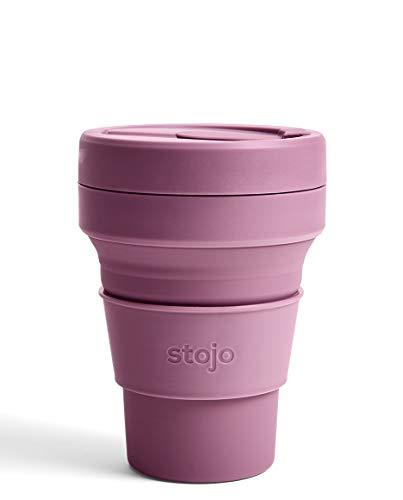 stojo(ストージョ)POCKET CUP 12oz/355ml 折り畳みマイカップ マイタンブラー (プラム)