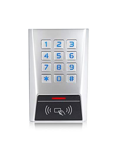 LONGWO BK2-EH Access Control Keypad Door Entry Device Gate Opener Keypad Rugged Metal Waterproof Housing Read 125KHz EM Card Wiegand Input/Output