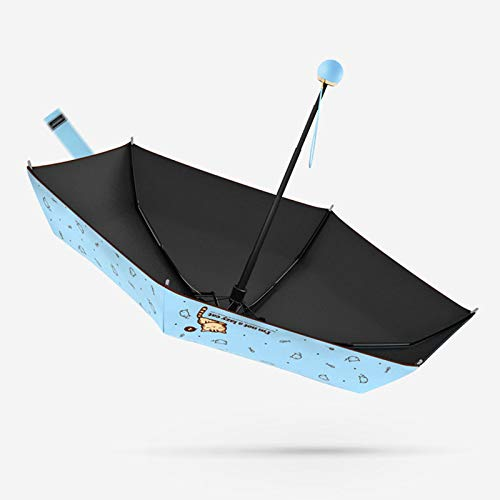 NFHBBAA Parapluie Parapluie Ultra Léger Poche Enfants Parapluie Pliant Crème Solaire Vent Pluie Femme