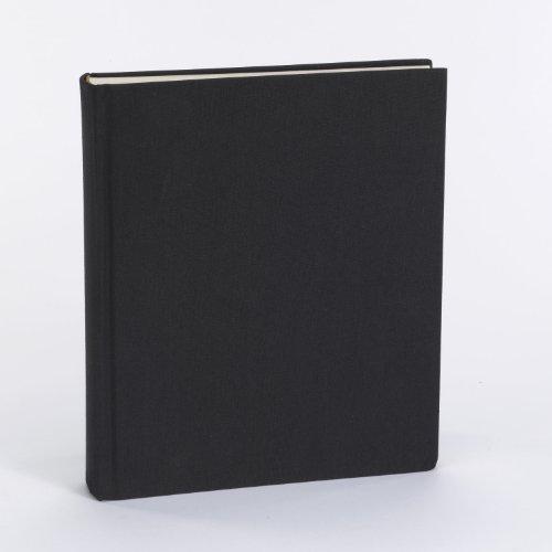 Semikolon Foto-Album mit hochwertigem Buchleinen-Bezug, Format: 21,6 x 25,5 cm, Farbe: Medium black (schwarz)