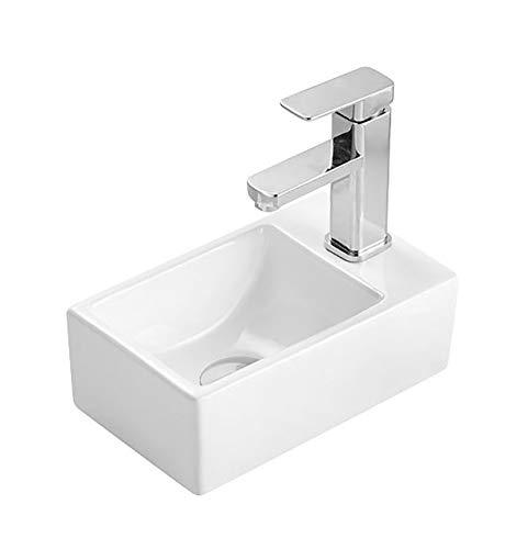 Design Waschtisch Kleines Gäste Wc Handwaschbecken Hahnloch Rechts Waschbecken