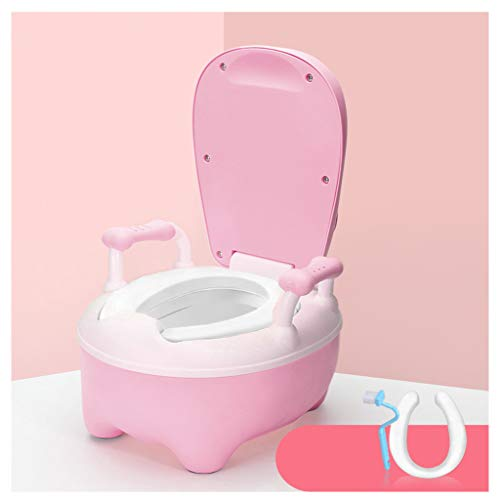 potty training potties Potties Kids Toilet Training Seat Baby Potty Children's Toilet Baby Girl Child Potty Urinal Male Drawer (Color : Pink)