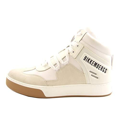 Bikkembergs Schuhe für Herren, Leder und Stoff weiß B4BKM0038, Weiß - Bianco - Größe: 41 EU
