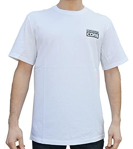 Converse Cons Logo tee - Camiseta, Hombre, Blanco(White)