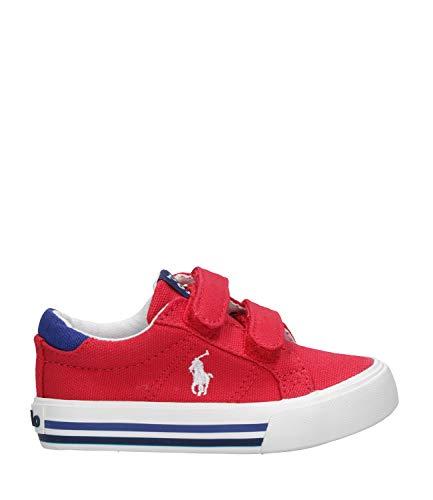 Polo Ralph Lauren Evanston EZ Rojo/Real Lona Júnior Zapatillas De Deporte Zapatos