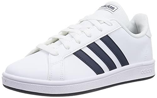 adidas Herren Grand Court Base Sneakers, Weiß Blau, 42 2/3 EU