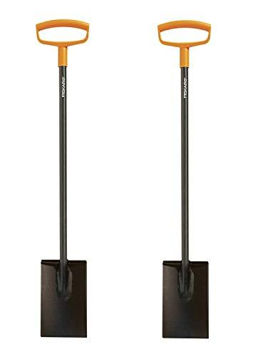 Fiskars 46 Inch Steel D-Handle Square Garden Spade (2-(Pack))