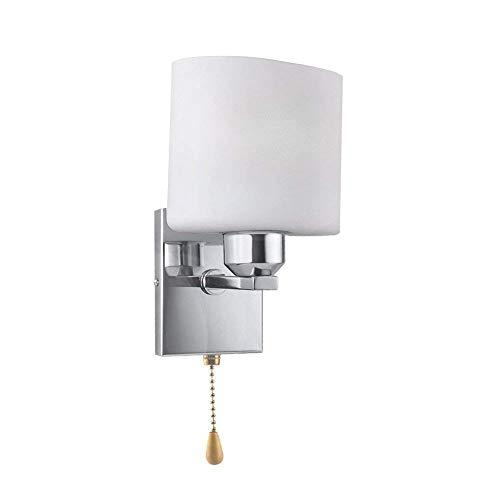 Wandlampe Moderne LED-Lampe 110V-240V Wandleuchte Moderne Leuchte (mit dem Pull-Schnurschalter & 3W kühles weißes Licht Glühbirne))