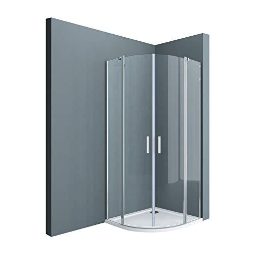 doporro Cabina de ducha de cuarto de círculo Ravenna52k 90x90x195 Mampara de...