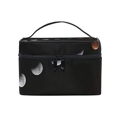 Lunar Eclipse Reise Make-up Taschen mit Reißverschluss Kosmetiktasche Kulturbeutel Zugkoffer...