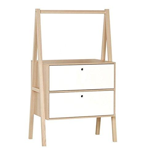 Commode 2 tiroirs Spot - Blanc