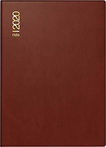 rido/idé 701818229 Taschenkalender Technik II (1 Seite = 2 Tage, 100 x 140 mm, Kunststoff-Einband bordeaux, Kalendarium 2020)