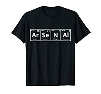 Arsenal  Ar-Se-N-Al  Periodic Table Elements Shirt