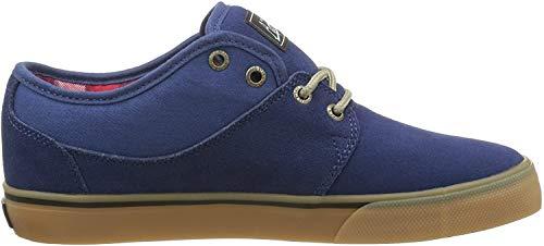 Globe Mahalo, Zapatillas de Skateboard Hombre, Azul (Navy/tartan/gum), 46 EU