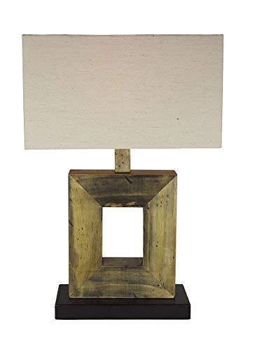 Fina Arte Lámpara de Mesa, Madera Lámpara Aus Palets y Bauholzabfall 52 Cm