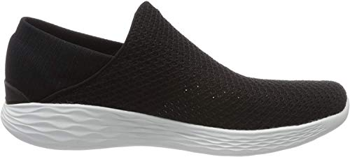 Skechers Damen You Slip On Sneaker, Schwarz (Bkw), 38 EU