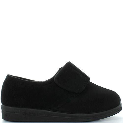 Comfylux - Zapatillas de estar por casa para mujer, color negro, talla 40.5