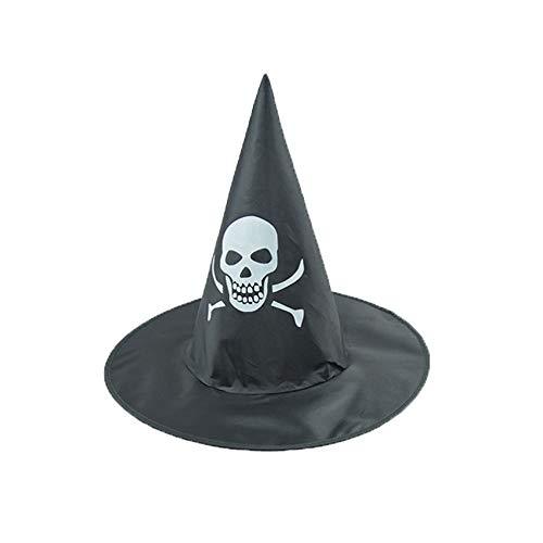 Zottom Der Schwarze Hexenhut der Erwachsenen Frauen für Halloween-Kostüm-Zusatz-Kappe