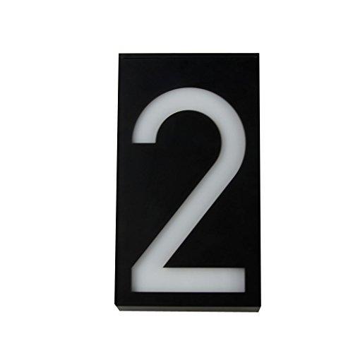 Solar 6 LED Licht Solarleuchte Hausnummer Zeichen Haus Hotel Tür Plaketten Digit Platte Nummer - Schwarz 2, 6-polig 5A