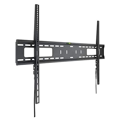 TooQ LP41100F-B - Soporte Fijo de Pared para Monitor/TV/LED de 60' a 100', hasta 75kg de Peso, Distancia a la Pared 30mm, Ultra Delgado, Formato VESA hasta 900x600, Color Negro