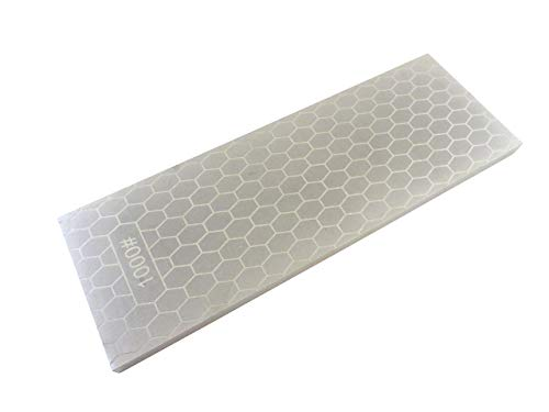 Taytools 107214 8 x 3 Inches 400/1000 Grit Diamond Sharpening Stone/Plate 5/16 Inches Thick Plated Steel Base