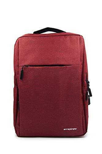 errepinew zaino laptop 15,6 pollici donna uomo portatile impermeabile colorato con usb libri ipad 4 scomparti per lavoro ufficio viaggio universita professionale aereo (rosso)
