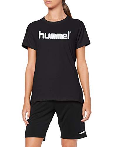 Hummel Damen HMLGO COTTON LOGO T-shirts, Schwarz, M