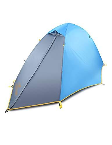 HJQZP888 Carpa de Playa Carpa de Camping al Aire Libre Adecuado for Estructura de Dos Pisos de una Sola Capa Carpa de Poste de Aluminio for Acampar de Tres Estaciones (Color : Blue-B)
