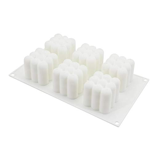 ELS 6 Cavity Mousse Cake Silicone Mold 3D Rubik'S Cube Shaped Bakeware Muffin Tray DIY Tools for Cake Candy Chocolate Cupcake Jelly Handmade Soap Candles