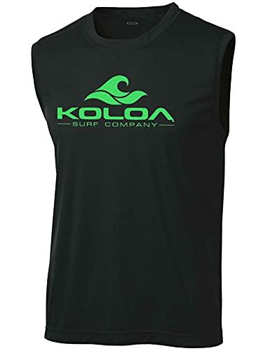 Koloa Surf Classic Wave Logo Moisture Wicking Sleeveless T-Shirts. Sizes: XS-4XL