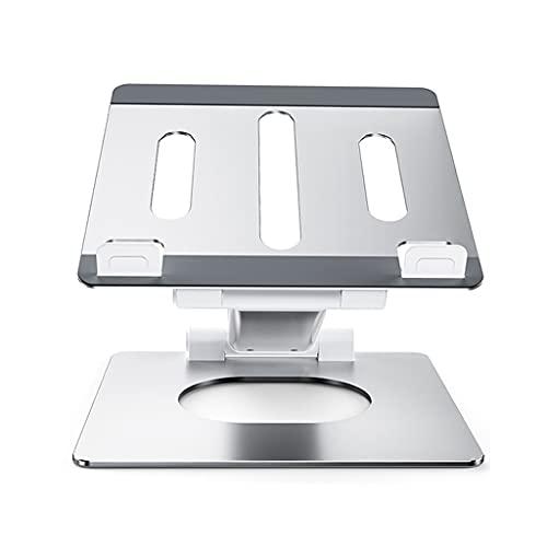 Soporte para ordenador portátil, portátil, soporte para computadora portátil, soporte plegable y ajustable, compatible con portátil de 11 a 17 pulgadas (color plateado, tamaño: 26 × 23 × 2,8 cm)