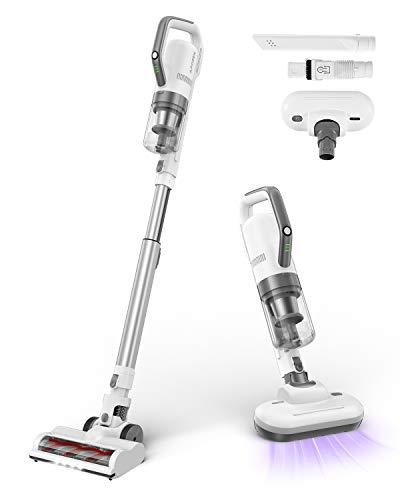 APOSEN Cordless Vacuum Cleaner, 4 in 1 Stick Vacuum Cleaner, 21000Pa Strong Suction with Brushless Motor Multi-Attachments Extension Wand Ultra-Quiet H21S