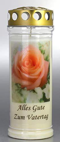 Kerzen Junglas Grablicht, Grabkerze mit Spruch und Motiv Vatertag, Größe 21x7,5 cm - Brenndauer ca. 7 Tage – Elegante Gedenkkerze, Trauerkerze mit Spruch. (3927)