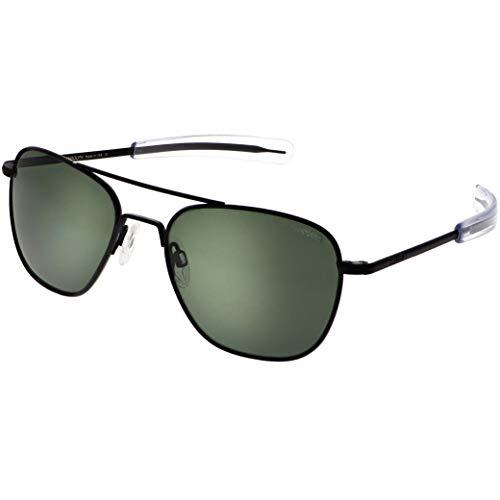 Randolph Classic Aviator Gafas de sol para hombre o mujer, color negro mate, 100% UV