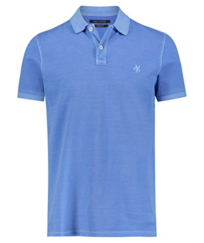 Herren POLO-SHIRT Regular Fit Azure Blue, Größe:M, Farbe:829 AZURE BLUE