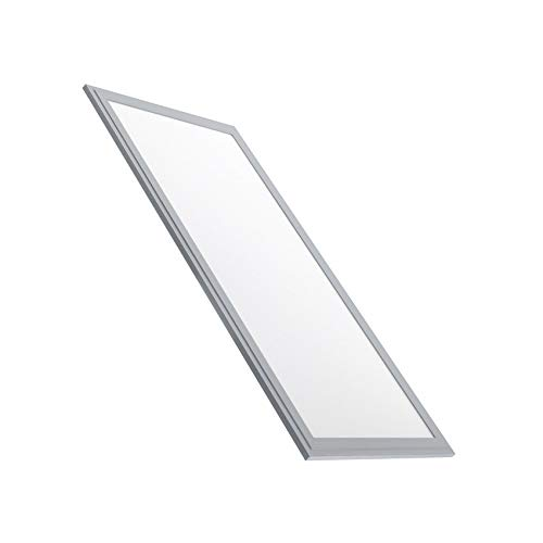 LEDKIA LIGHTING Panel LED Slim Marco Plata 60x30cm 32W 3270lm Blanco Frío 6000K - 6500K