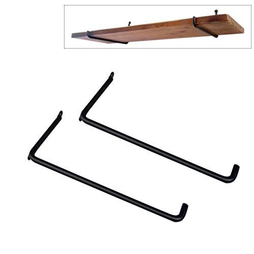 WILK 2 Stks drijvende plank beugel (ijzer) - blinde plank ondersteunt - L-vormige beugel driehoek beugel beugel, U-vormige beugel wandplank