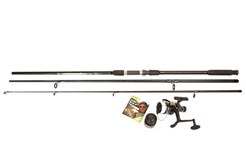 Matt Hayes ADVENTURE - CARP Fishing Combo (3.3m / 11ft) 3 Piece Rod Blank and Size 40 1BB Reel Ideal Starter Set for Carp [99-7508134]