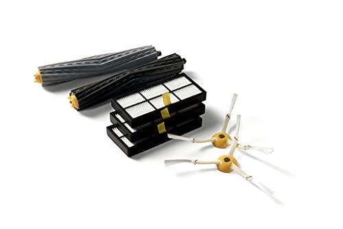iRobot Piezas auténticas - Roomba Kit de recambios Series 800 y 900 - 3 filtros de alta eficiencia, 2 cepillos laterales giratorios y 1 juego de cepillos de goma para superficies múltiples