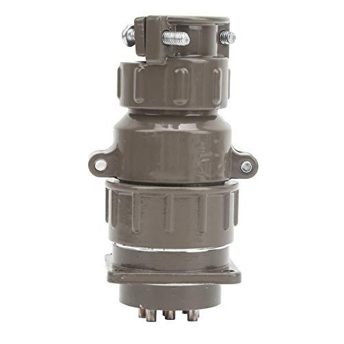 P20K2Q-Conector de aviación de 2 clavijas Enchufe de aviación de 2 clavijas 20A AC400V para equipos industriales (crimpado) Equipo de iluminación (crimpado) para alimentación de