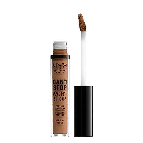 NYX Professional Makeup Can't Stop Won't Stop Contour Concealer - wasserfester flüssiger Abdeckstift, Kaschieren & Highlighten, 3,5 ml, Mahogany 16