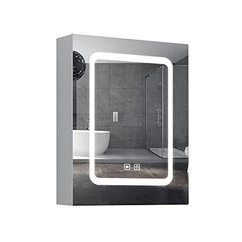FLAMY LED Mueble de Espejo de baño de Aluminio,Armario de Pared,Armario para...