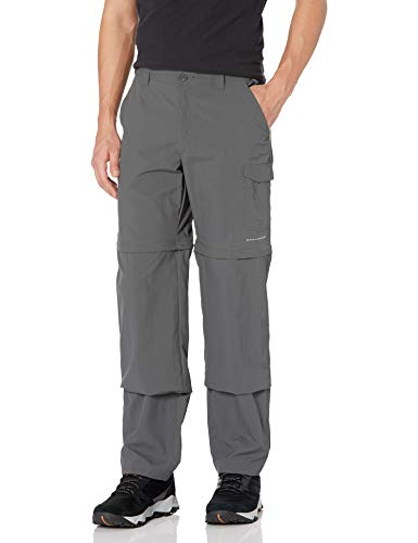 Columbia Men's PFG Blood and Guts III Convertible Pant , Grill, 30 x 32