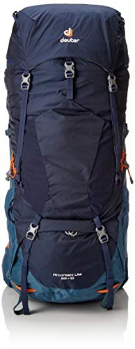 DEUTER Aircontact Lite 65 + 10 Trekking Backpack, Navy-Arctic, 0