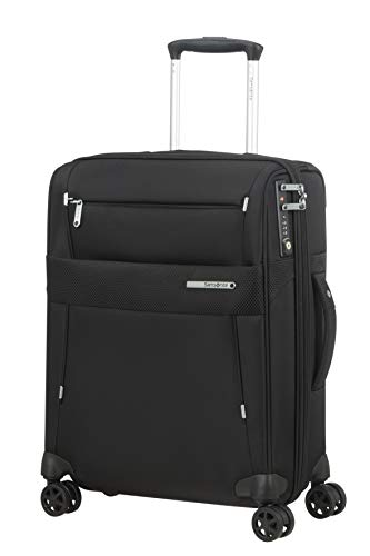 Samsonite Duopack Luggage- Carry-On Luggage, S (55 cm - 49 L), Black (Black)