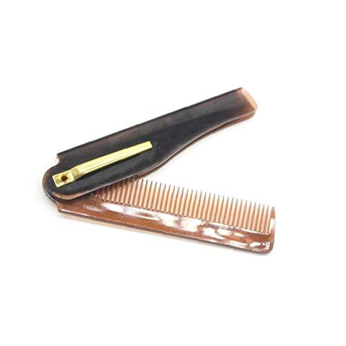 Cheveux 1pc Peigne Voyage Portable pliant en plastique Peigne compact de poche Peigne dents fines peigne Mans Styling Trousse de toilette cheveux (Brown)