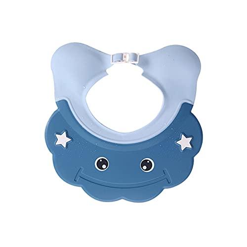 MOVKZACV Gorro de ducha para niños ajustable para lavar el cabello, champú para ayudar al sombrero de ducha para detener el agua en los ojos